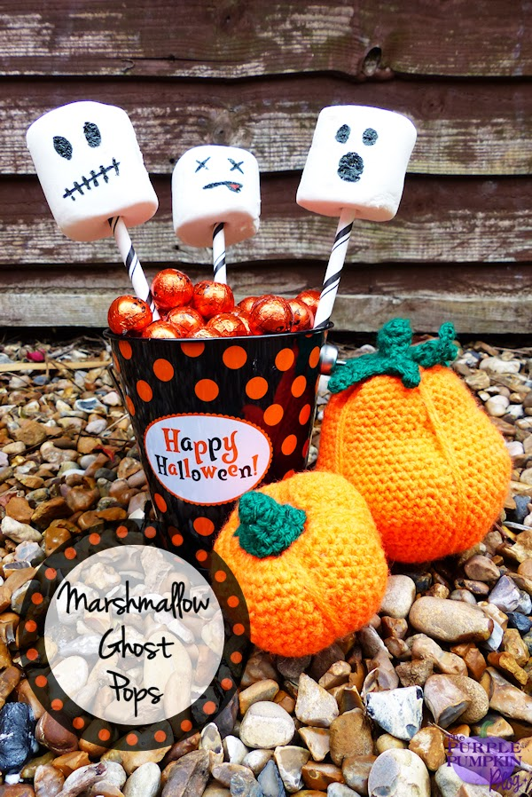 Marshmallow Ghost Pops #CraftyOctober #Halloween