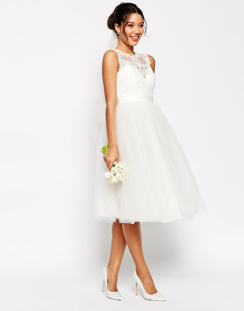 Quick Delivery Wedding Dresses 56 Lovely lace full skirt midi