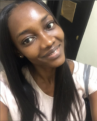 oluchi without makeup