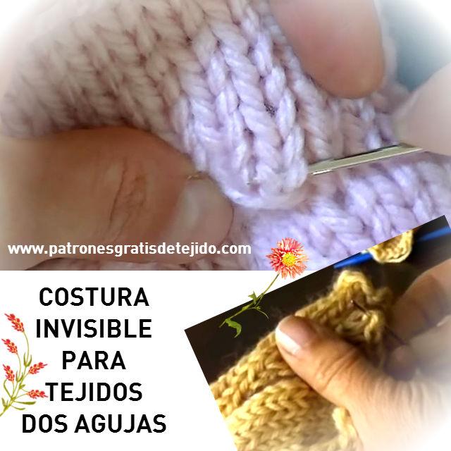 costura invisible para tejidos con palitos