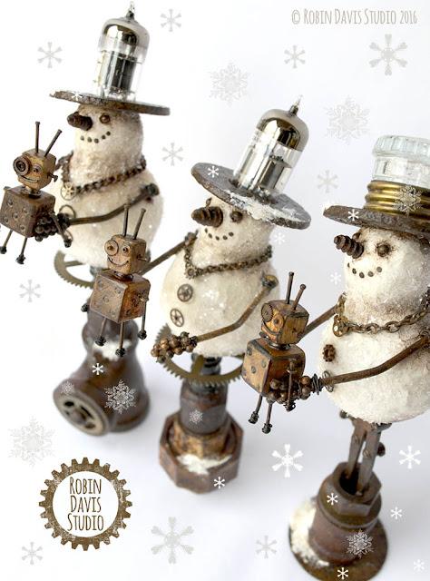 Steampunk Snowmen by Robin Davis Studio
