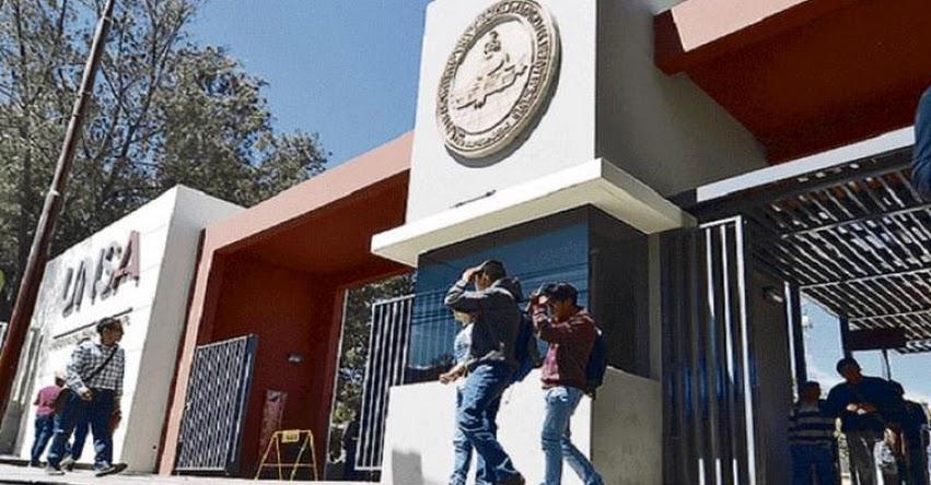 UNSA: Congelan sueldos a docentes contratados en la Universidad Nacional de San Agustín de Arequipa