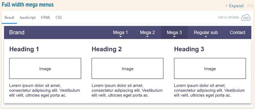 SmartMenus-mega-submenu-demo.jpg-自適應 RWD 多層下拉選單實作﹍Bootstrap SmartMenus 外掛