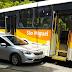 Batida em Resende envolvendo carro e ônibus da empresa São Miguel
