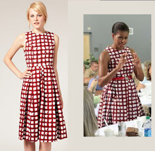 Michelle Obama luce un modelo Midi-Dress  de ASOS