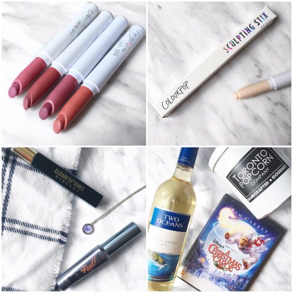 bbloggers, bbloggersca, canadian beauty bloggers, instamonth, round up, blog, colourpop cosmetics, lippie stix, sculpting stix, gift guide for her, thanksgiving, holiday movie night