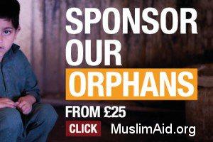 Muslim Aid sponsor an orphan