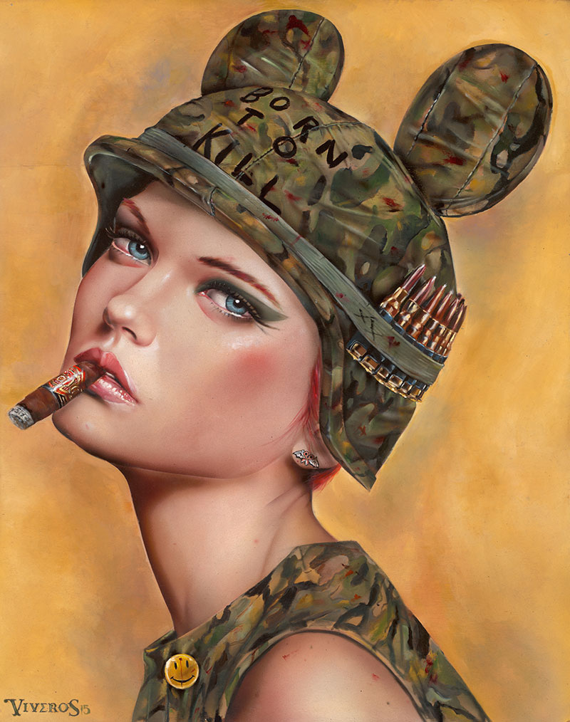 05-Full-Metal-Jacket-Brian-M-Viveros-Paintings-of-Femininity-in-the-Eye-of-the-Artist-www-designstack-co