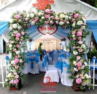 mẫu cổng hoa cưới đẹp nhất 1