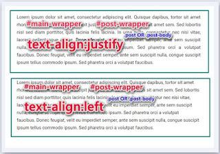 Cara Mengatur Teks di Blog Agar Rata Tengah, Justify, Kanan dan Kiri