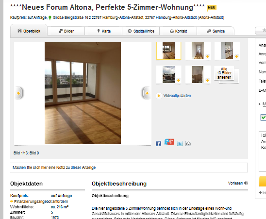 Single wohnung hamburg altona