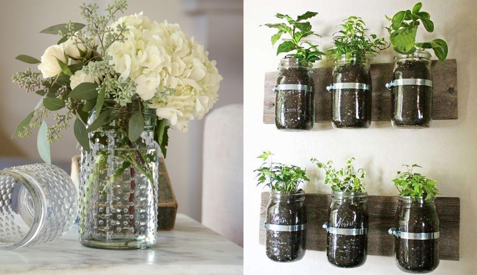 Vasi creativi per fiori e piante idee fai da te e - Tavolo da parete fai da te ...
