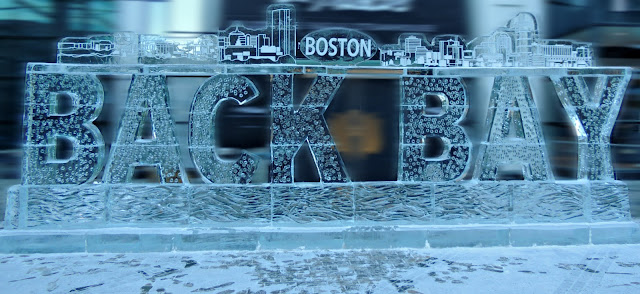 Esculturas de Hielo de la First Night Boston 2018 en Back Bay