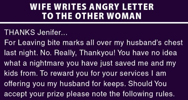 letter to the woman my husband cheated on me with