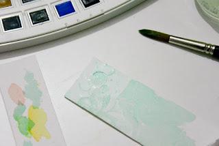 pintando con acuarelas