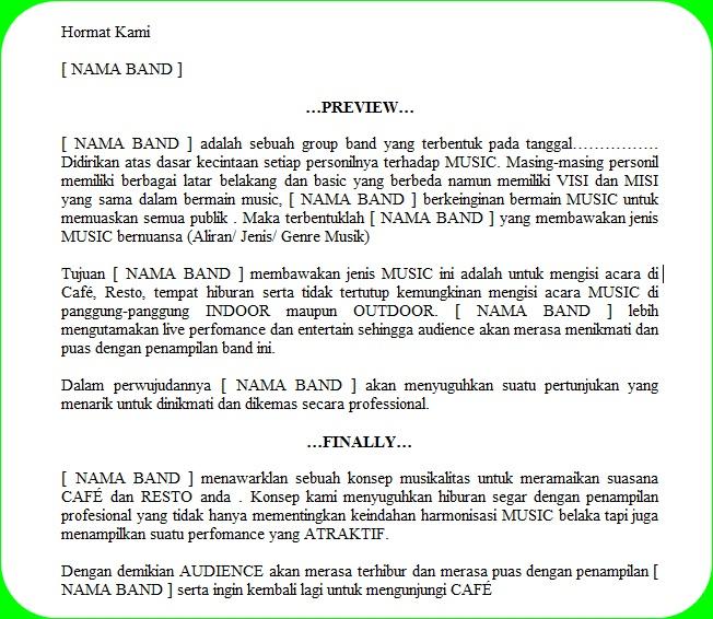 Contoh Bentuk Tulisan Proposal Pengajuan Band Ob Media Penerbit