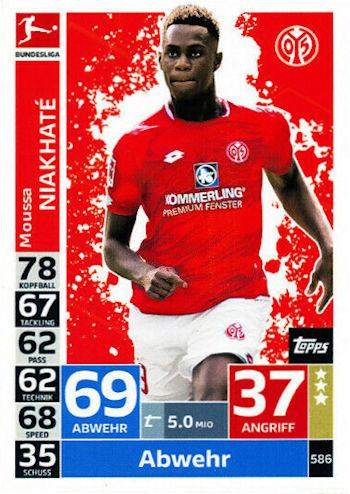 TOPPS Bundesliga 2018//2019 Meisterschale Sticker 2