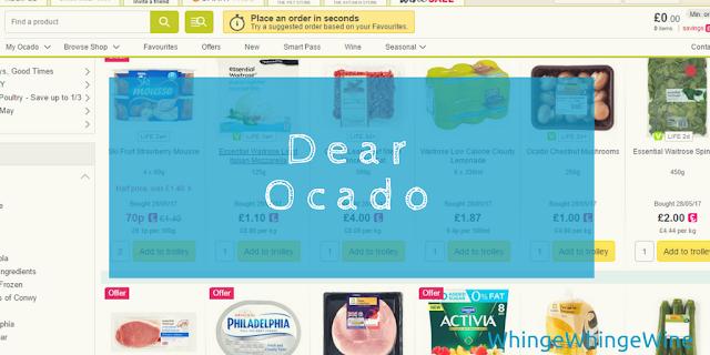 Dear Ocado, forgive me