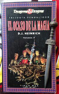 Portada del libro El ocaso de la magia, de D. J. Heinrich