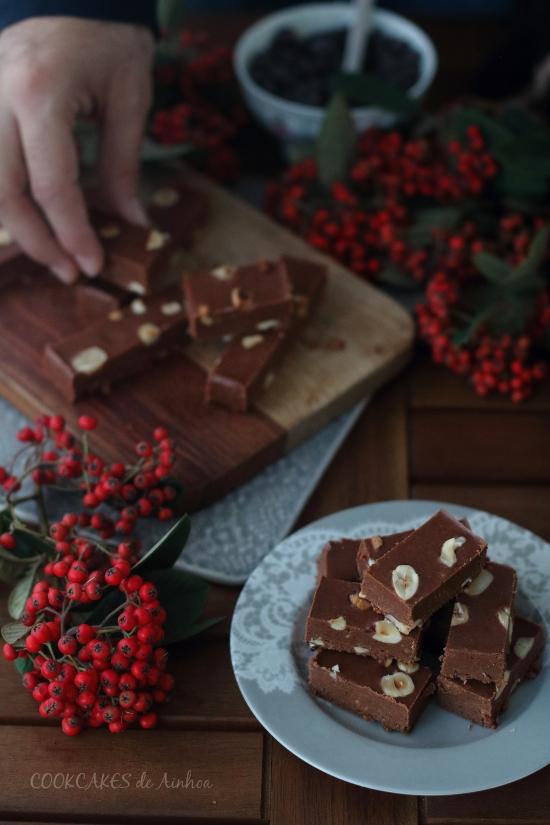Turrón praliné de avellanas (receta Navidad)