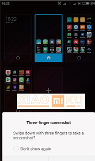 cara pengambilan screenshot three fingers