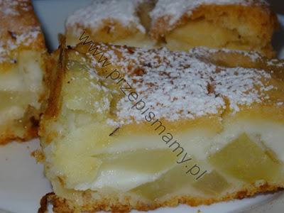 Ciasto budyniowo- gruszkowe