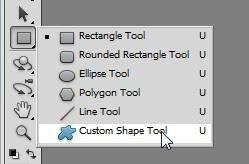 photoshop custom shapes tool