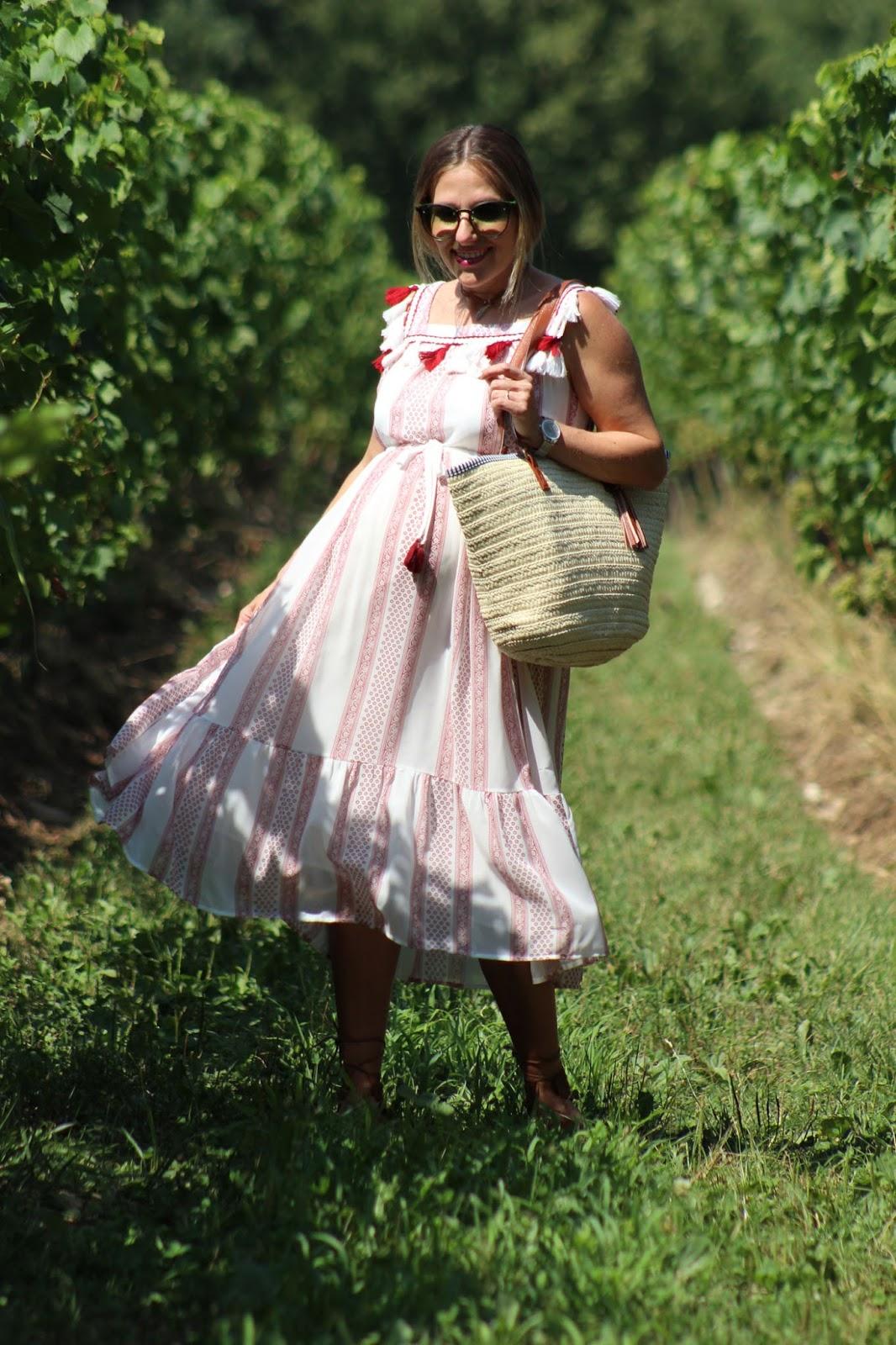 Come abbinare un vestito etnico e una borsa in paglia - Zaful