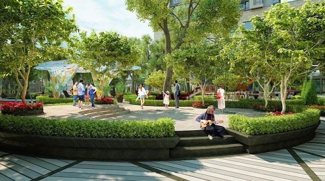 Không gian xanh yên bình và tươi mát tại Louis City Đại Mỗ