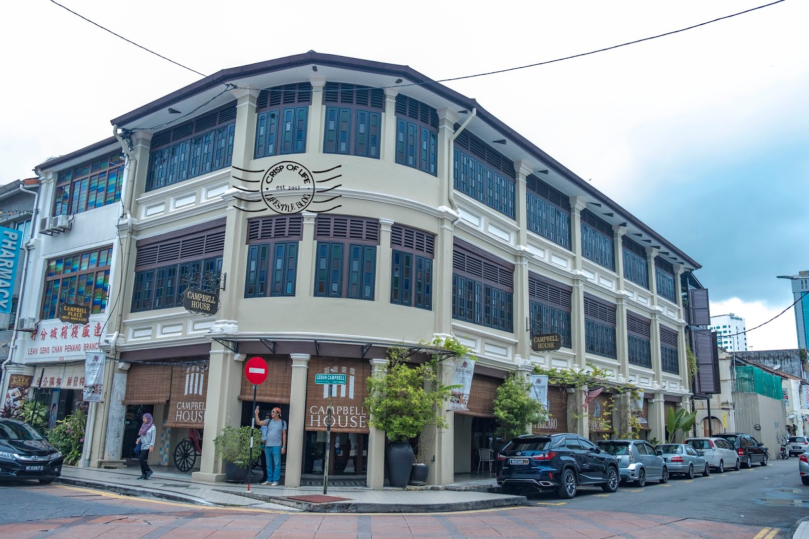 Campbell Street Penang with Vibrant Mixture of Old and Modern Eateries