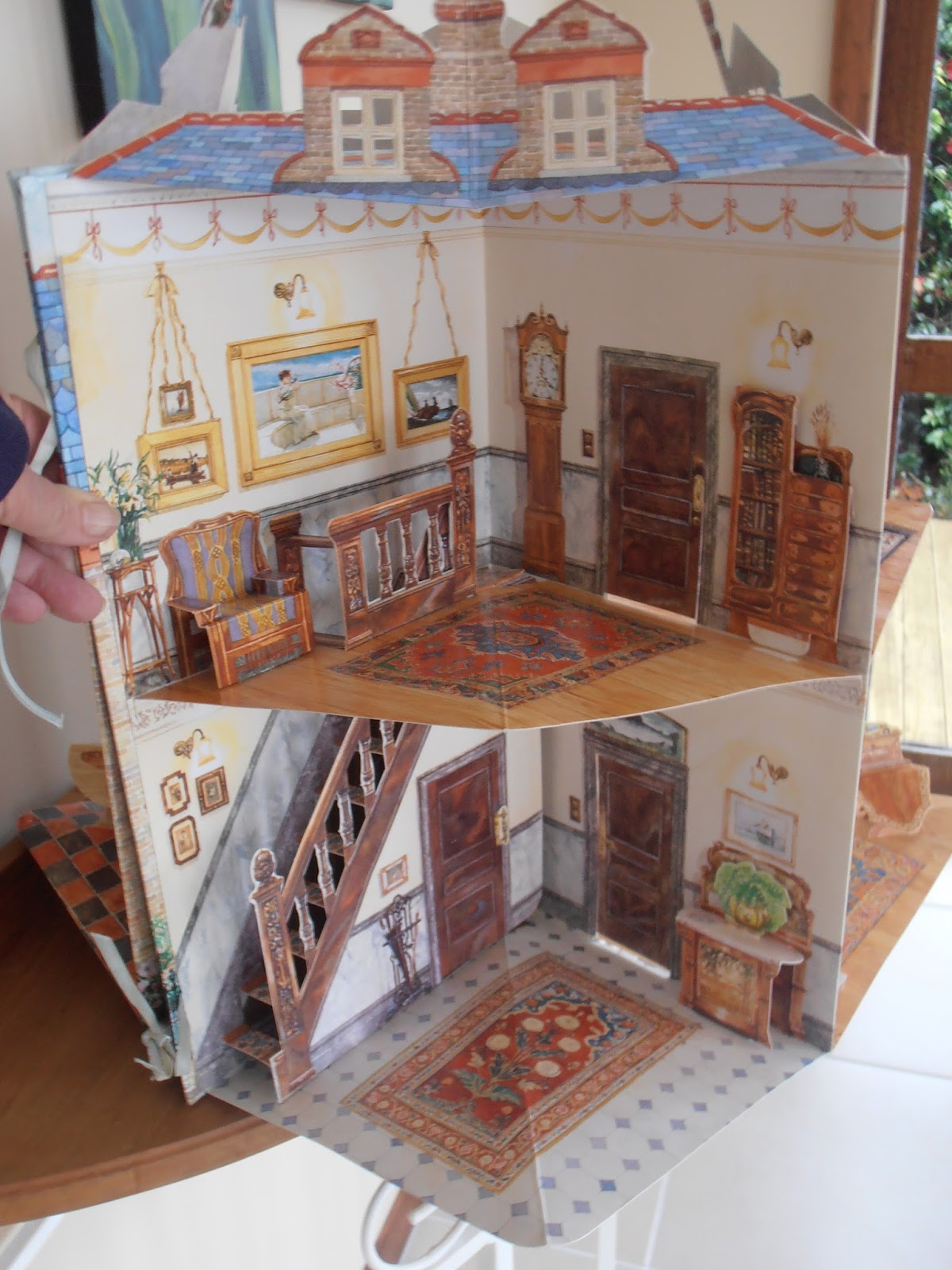 dolls houses and minis an edwardian doll 39 s house carousal pop up book. Black Bedroom Furniture Sets. Home Design Ideas