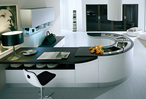 minimalist home decoration tips - curved design furniture
