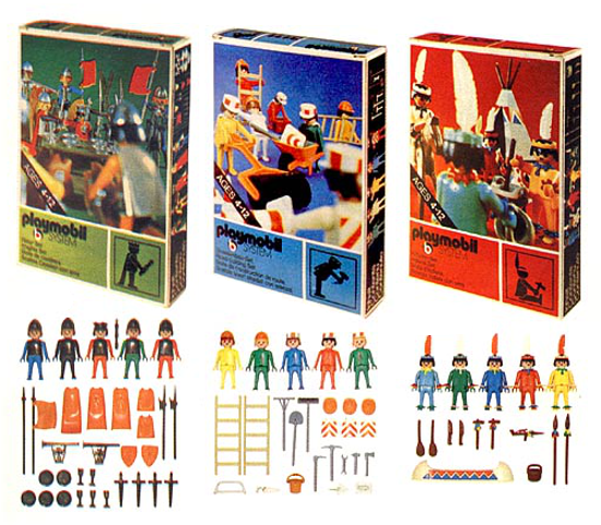 Playmobil first packages and sets 1974