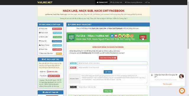Giới Thiệu Website Hack Like,Hack Người Theo Dõi, BOT Thả Tim, BOT CMT miễn phí