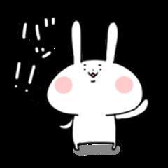 Onomatopoeia rabbit sticker