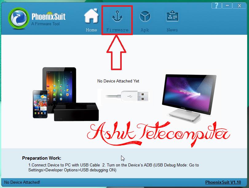 PhoenixSuit V1 10 Uma ferramenta de firmware mais recente