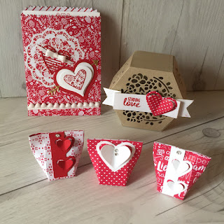 Mini Treat Bag, Die cut box and small Valentine treat boxes