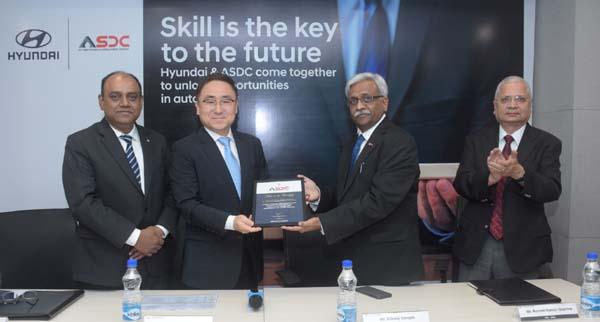 Hyundai Motor India Signs MoU with Automotive Skills Development Council (ASDC)