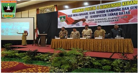 Gubernur Sumatera Barat, Prof. Iwan Prayitno Buka Seminar Politik 4 Konsensus Kebangsaan