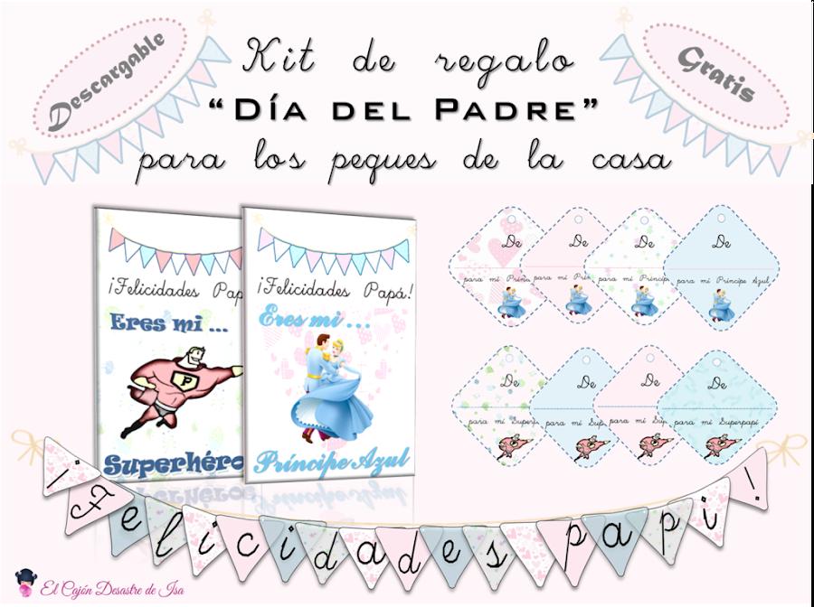 Kits de regalo imprimible gratis para el Día del Padre: tarjeta de felicitación, tags y banderines