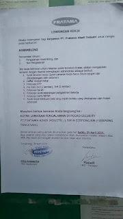 PT. Pratama Abadi Industri Serpong Tangerang.