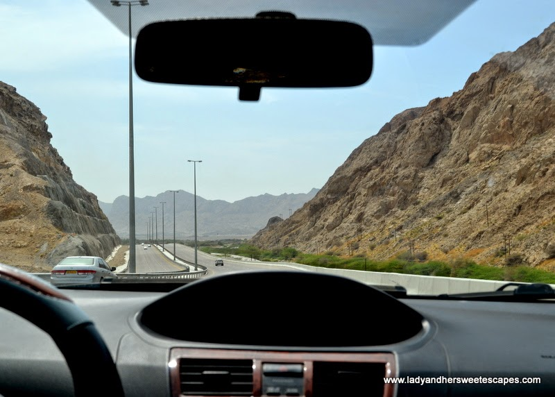 road trip from Muscat to Wadi Shab