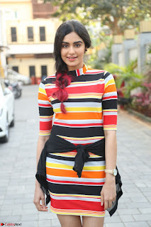 Adha Sharma in a Cute Colorful Jumpsuit Styled By Manasi Aggarwal Promoting movie Commando 2 (24).JPG