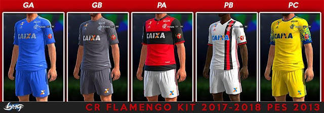 CR Flamengo Kit 2017-18 PES 2013