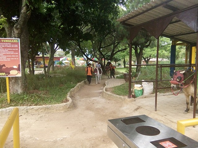 Taman Legenda TMII, kuda tunggang