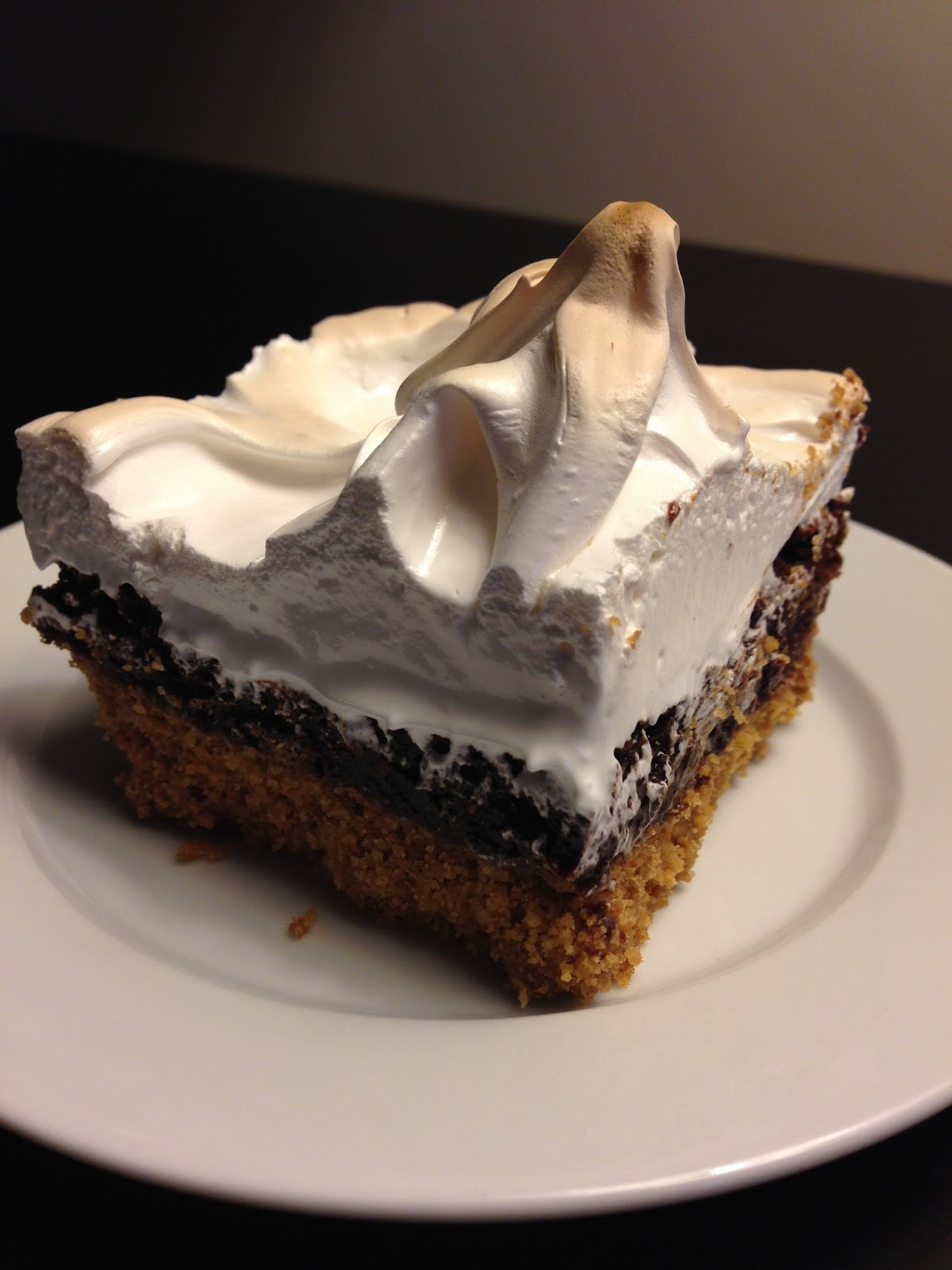 S'mores Bars with Marshmallow Meringue