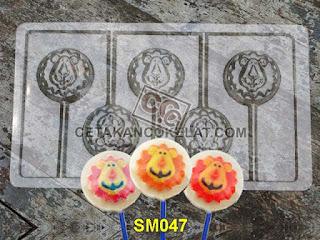 cetakan coklat cokelat SM047 SM47 mold mould lolipop singa hewan binatang #cetakancoklat