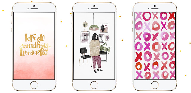 wallpapers-fofos-tumblr-para-donwload-iphone-celular-lipstick-and-polaroids