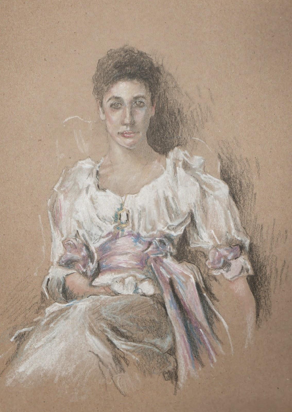 mon carnet de dessins copie tableau de maitre lady agnew of lochnaw de john singer sargent. Black Bedroom Furniture Sets. Home Design Ideas