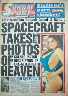 Front page of the Sunday Sport newspaper from 22 May 1988